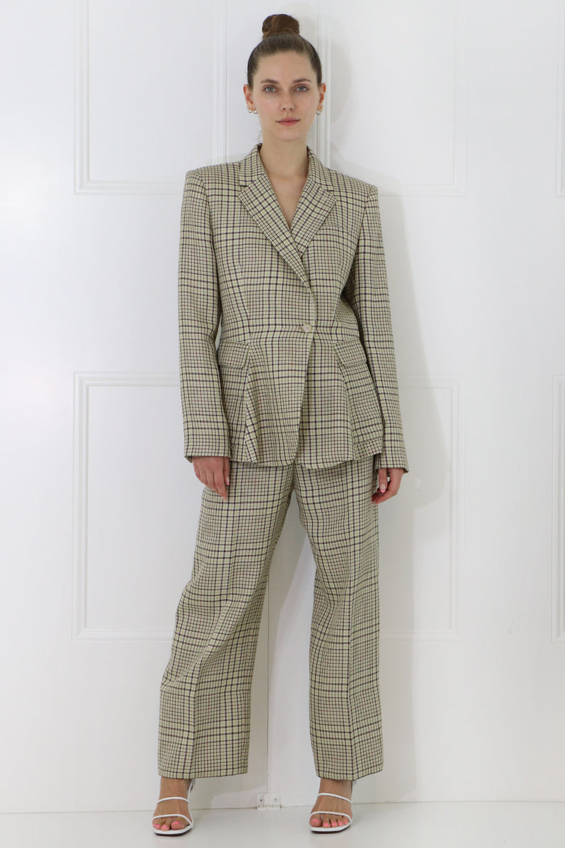 LE SANTON PANT GREEN CHECK