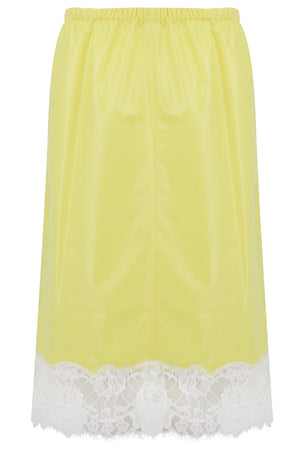 LACE HEM SKIRT YELLOW