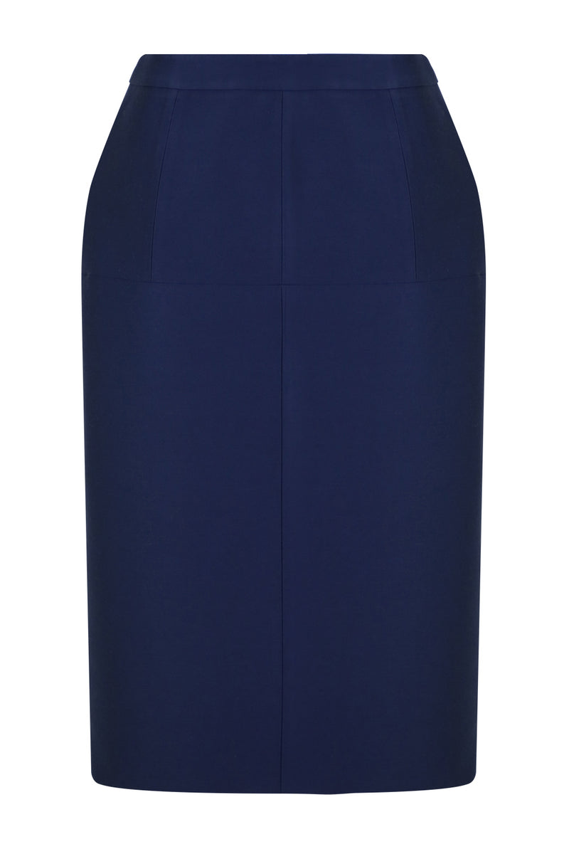 TAILORED TULIP SKIRT NAVY