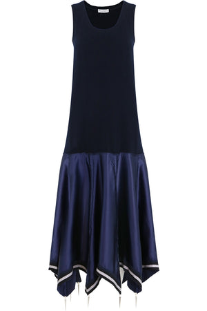UMBRELLA KNIT DRESS S/LESS NAVY