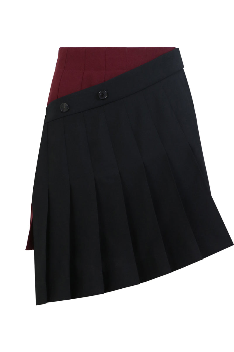 ASYMMETRIC MINI SKIRT BLACK
