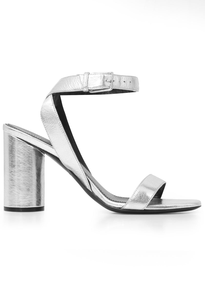 OVAL SANDAL 90MM SILVER