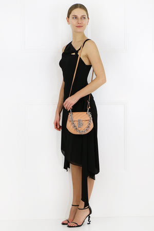 S/LESS ASYMMETRICAL DRAPE DRESS BLACK