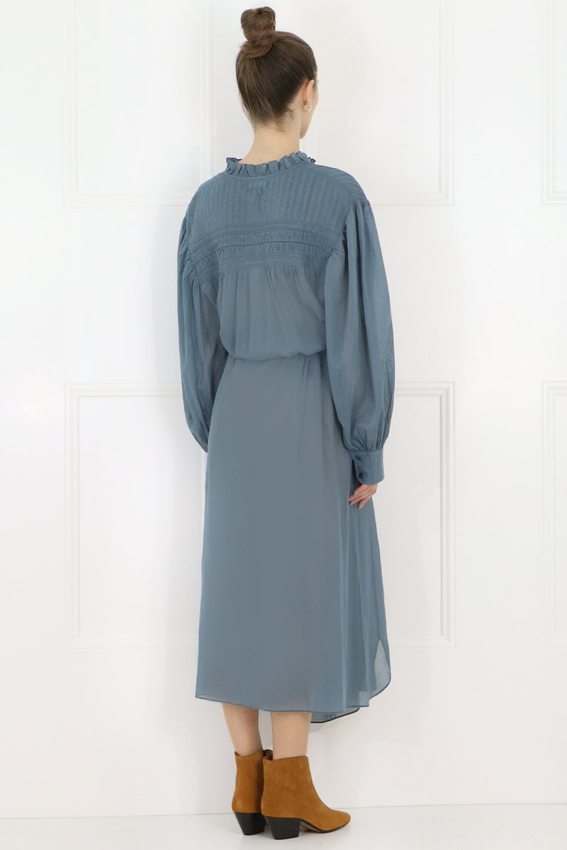 ETOILE PERKINS MAXI DRESS L/S GREYISH BLUE
