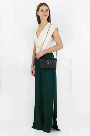 CLARA SIDE SPLIT PANT GREEN