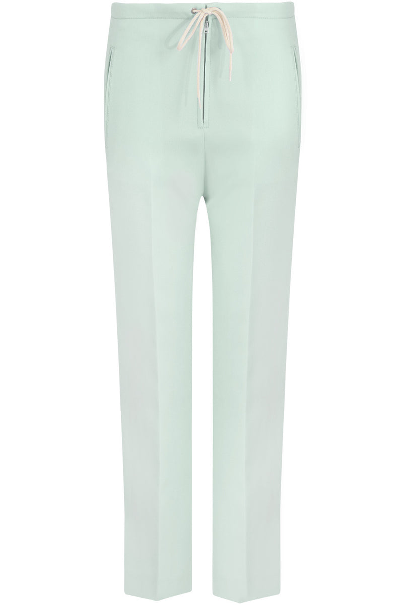 TAPERED FRONT ZIP TROUSERS BABY GREEN