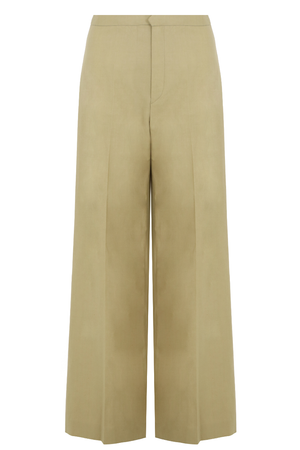 SPANEL FLARED PANTS BEIGE