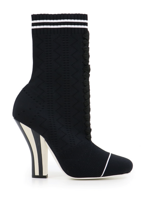 ROCCO 85MM HEEL BOOT BLACK/WHITE