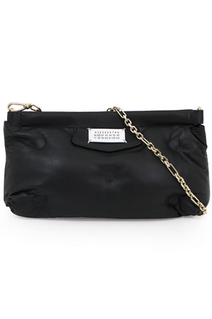 GLAM SLAM QUILTED CROSSBODY CLUTCH BLACK
