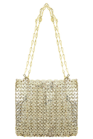 MESH DISC BAG LIGHT GOLD