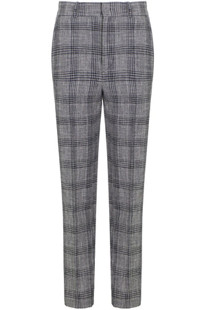 SONNEL CHECK PANT BLACK/ECRU