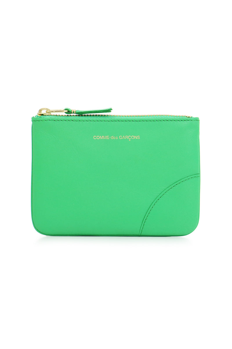 SMALL CLASSIC LEATHER POUCH GREEN