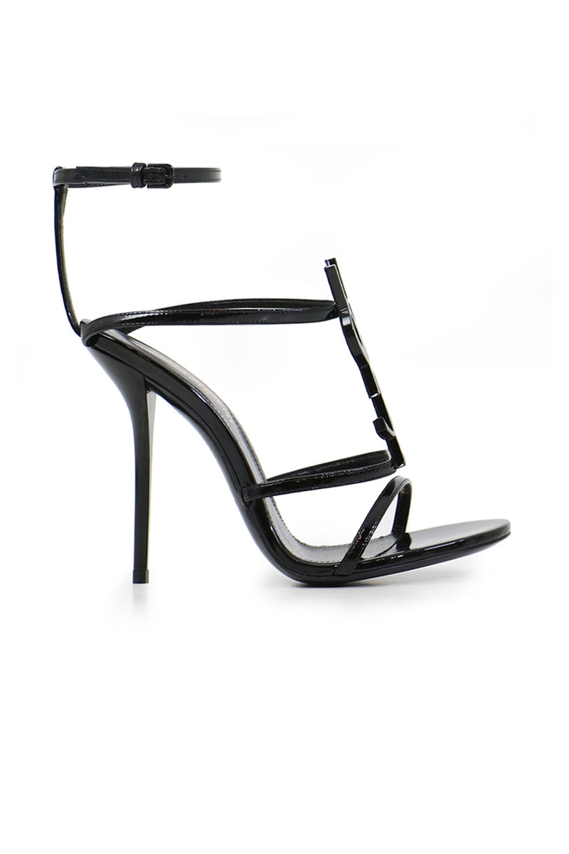 CASSANDRA LOGO SANDAL 110MM BLACK