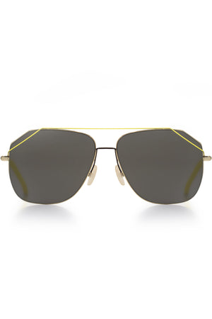 MENS STYLE AVIATOR SUNGLASSES YELLOW/BLACK