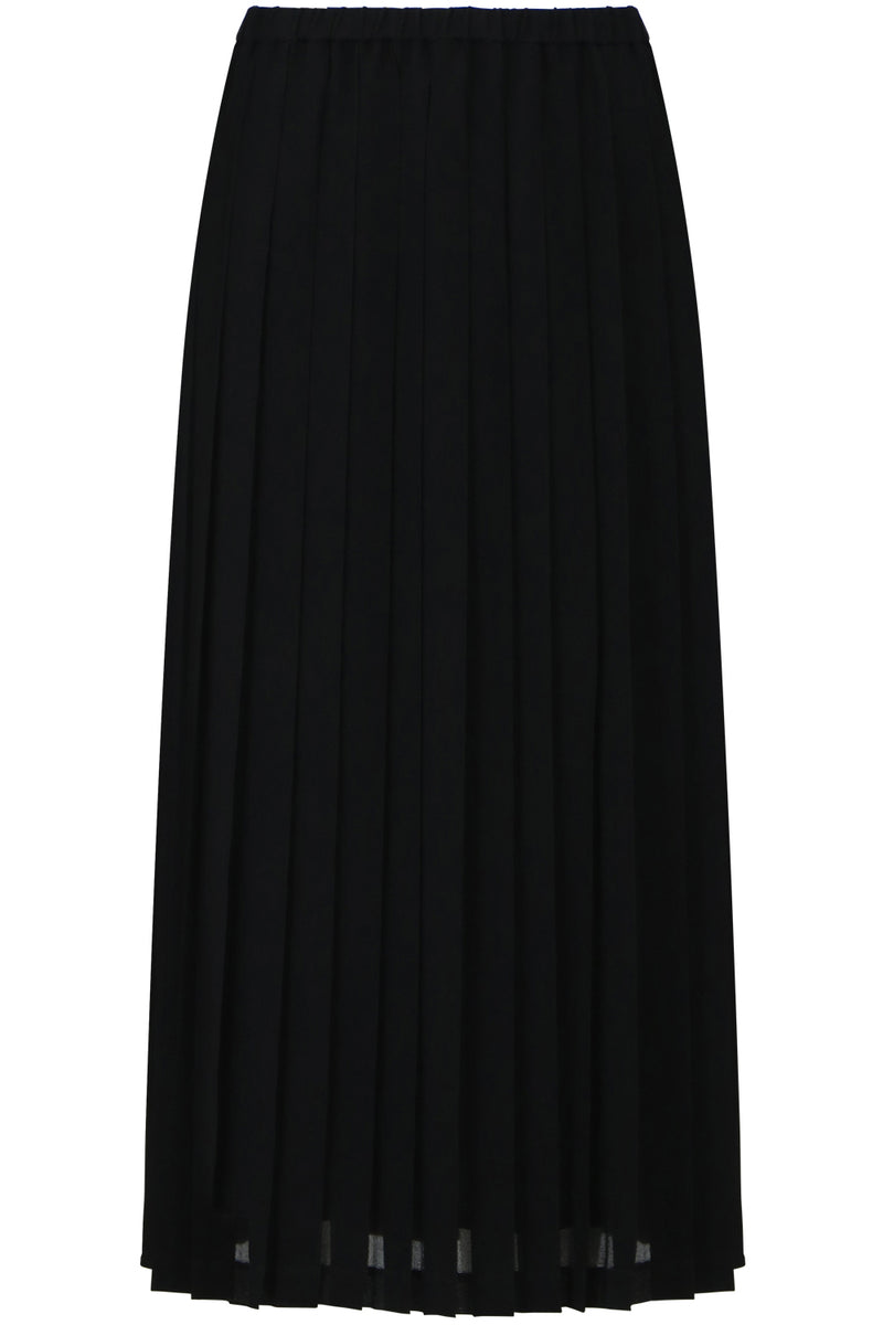 PLEATED SKIRT BLACK GEORGETTE