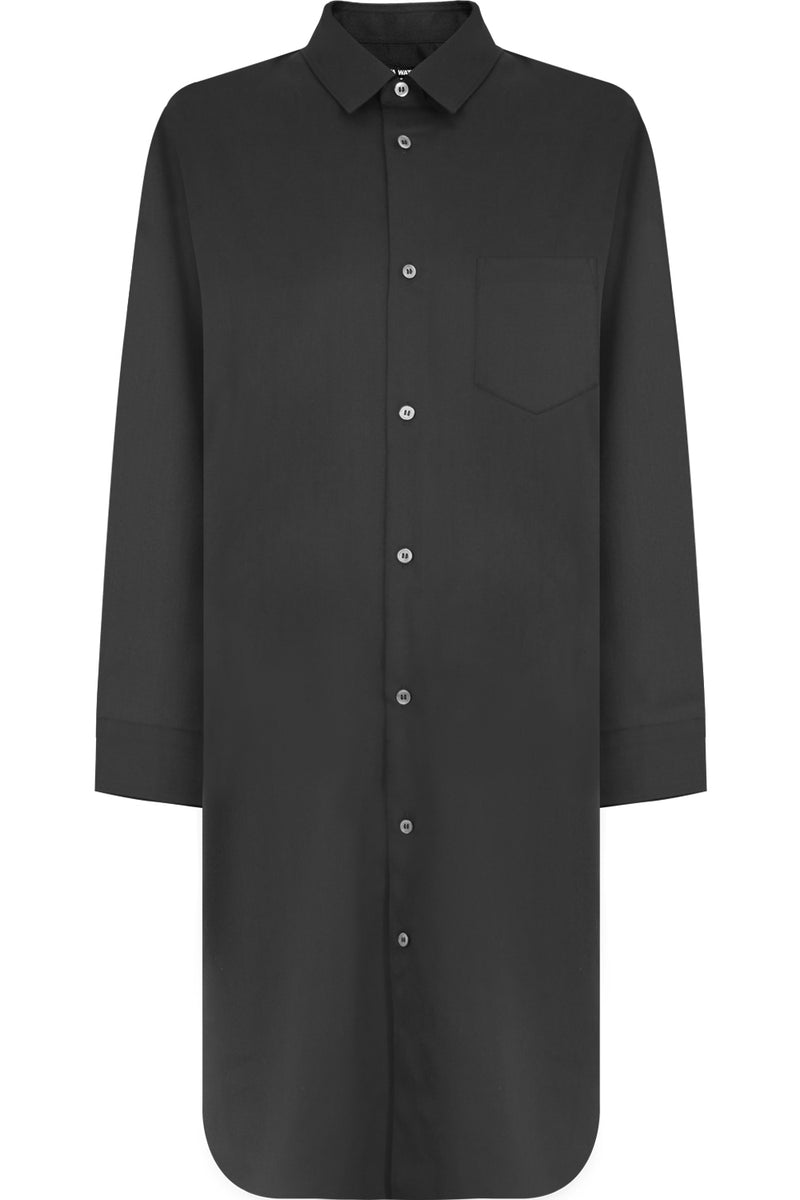 OVERSIZED SHIRT DRESS L/S BLACK