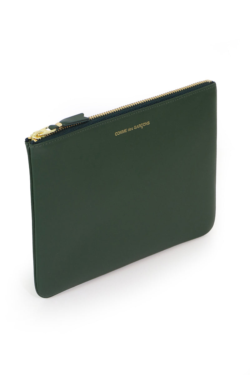 CLASSIC LEATHER POUCH BOTTLE GREEN