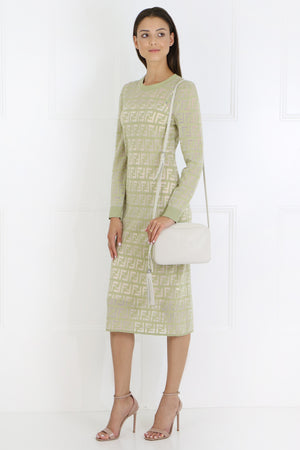 LOGO KNIT MIDI DRESS L/S AVOCADO