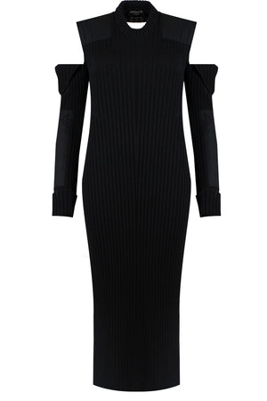 CUT OUT KNIT DRESS BLACK