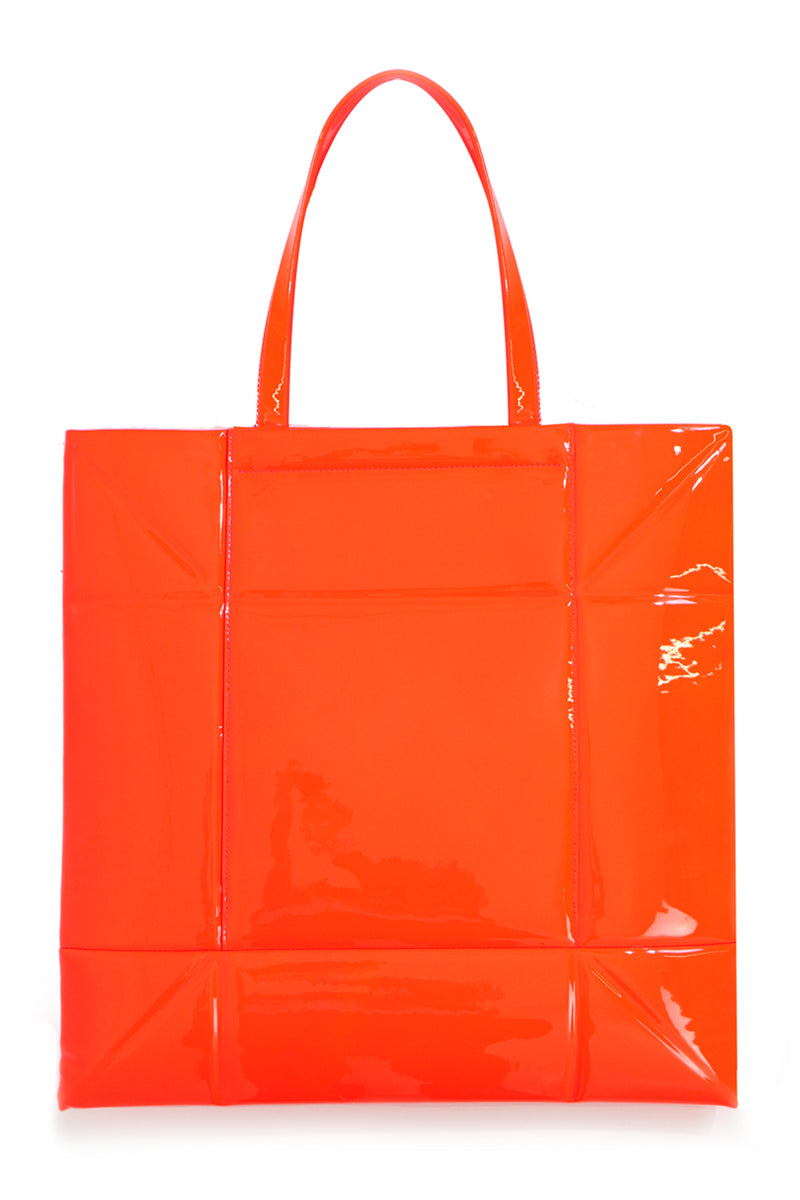 SMALL GEOMETRIC TOTE ORANGE