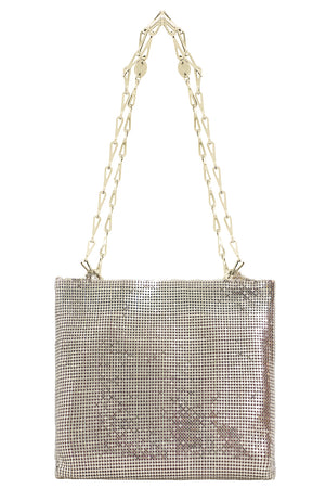 CHAINMAIL MESH BAG LIGHT GOLD