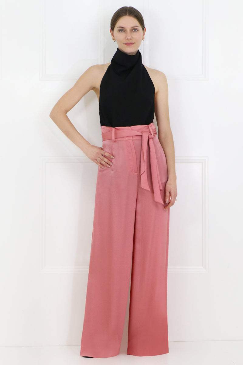IONA WIDE LEG PANTS WITH BELT PINK