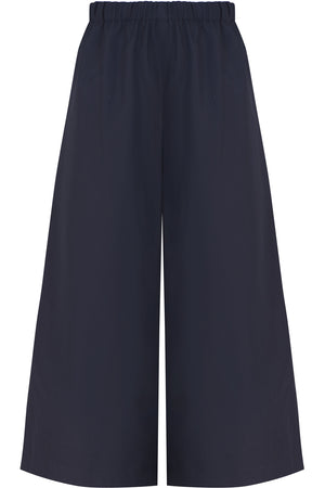 CROPPED WIDE LEG PANTS NAVY