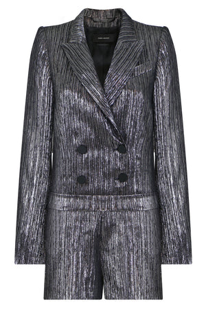 DERRON TAILORED BLAZER JUMPSUIT SILVER