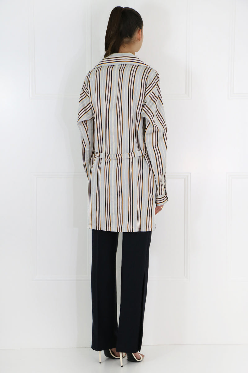 STRIPE SHIRT DRESS L/S MULTI
