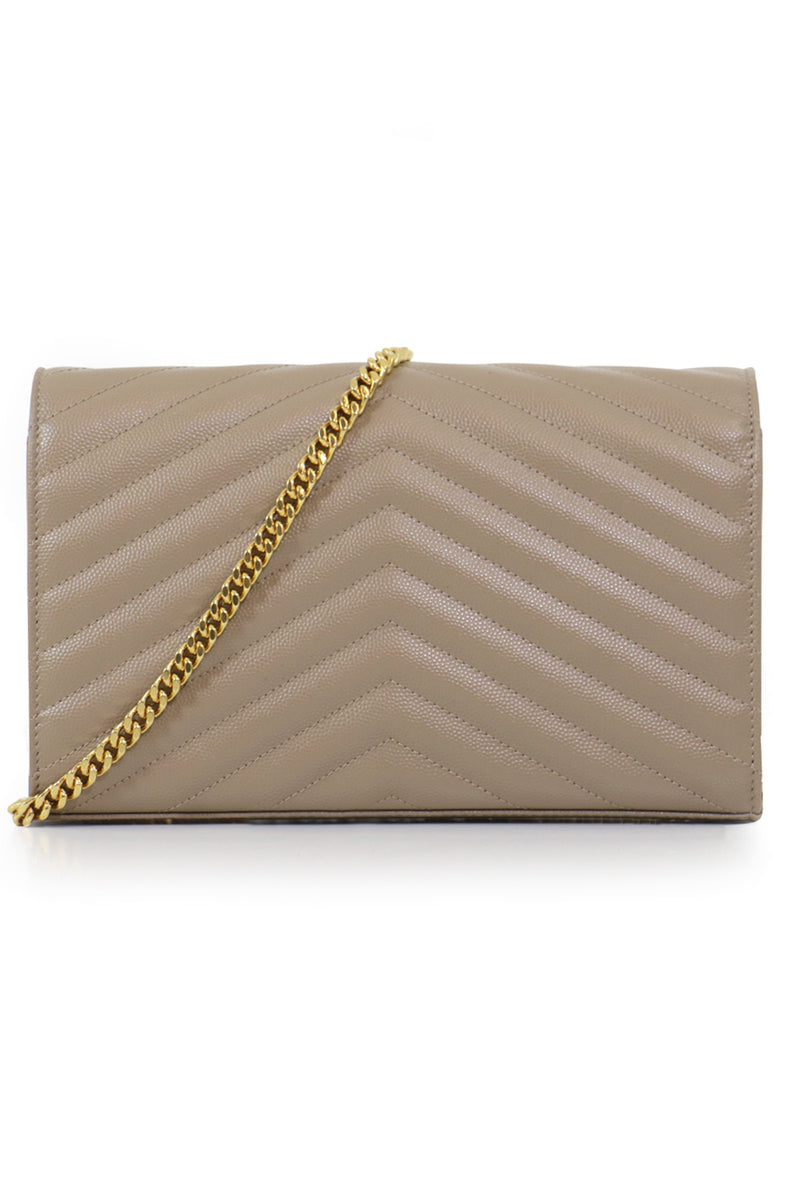 MONOGRAMME QUILTED CHAIN WALLET DUSTY GREY