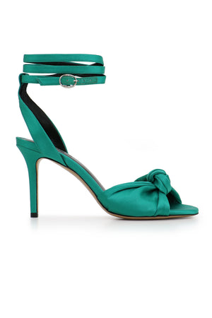 ABENYA BOW 85MM HEEL GREEN