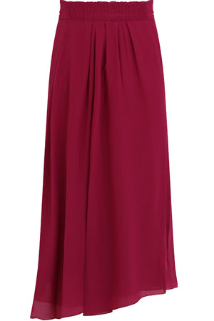 ETOILE YEBA PLEATED MIDI SKIRT RASPBERRY