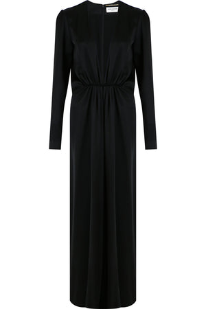 DRAPE GOWN BLACK