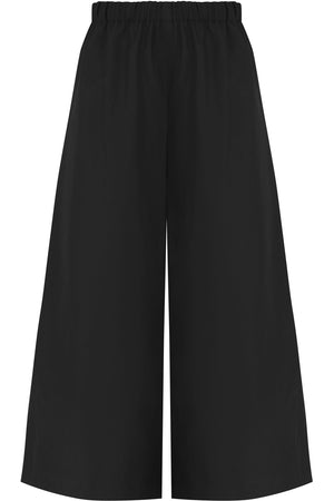 CROPPED WIDE LEG PANTS BLACK