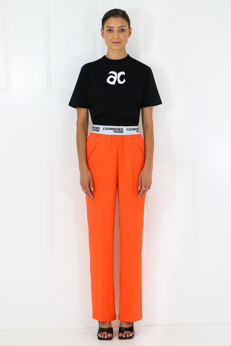 STRAIGHT LEG TROUSERS ORANGE