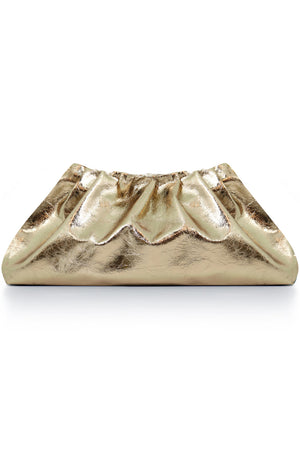PLEAT CLUTCH GOLD