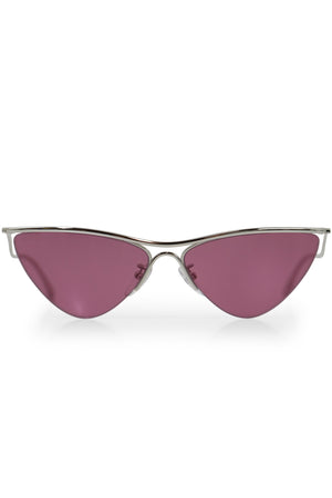 CURVE CAT SUNGLASSES SILVER/PINK