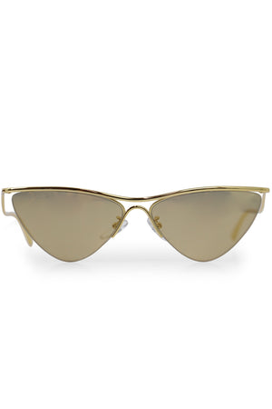 CURVE CAT SUNGLASSES GOLD
