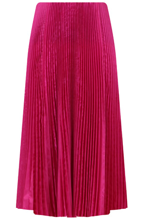 PLEATED KICK SKIRT FUSCHIA