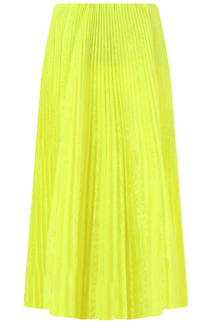 PLEATED KICK SKIRT FLURO YELLOW