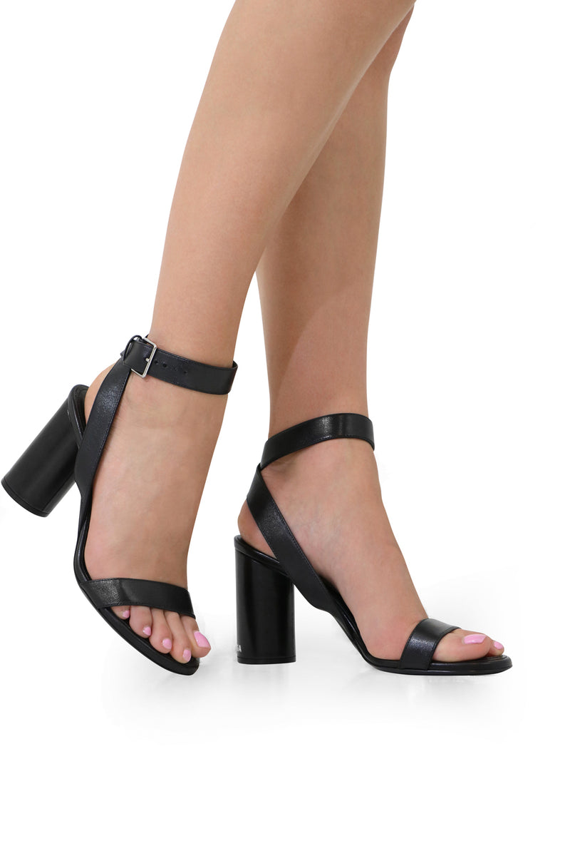 OVAL SANDAL 90MM BLACK