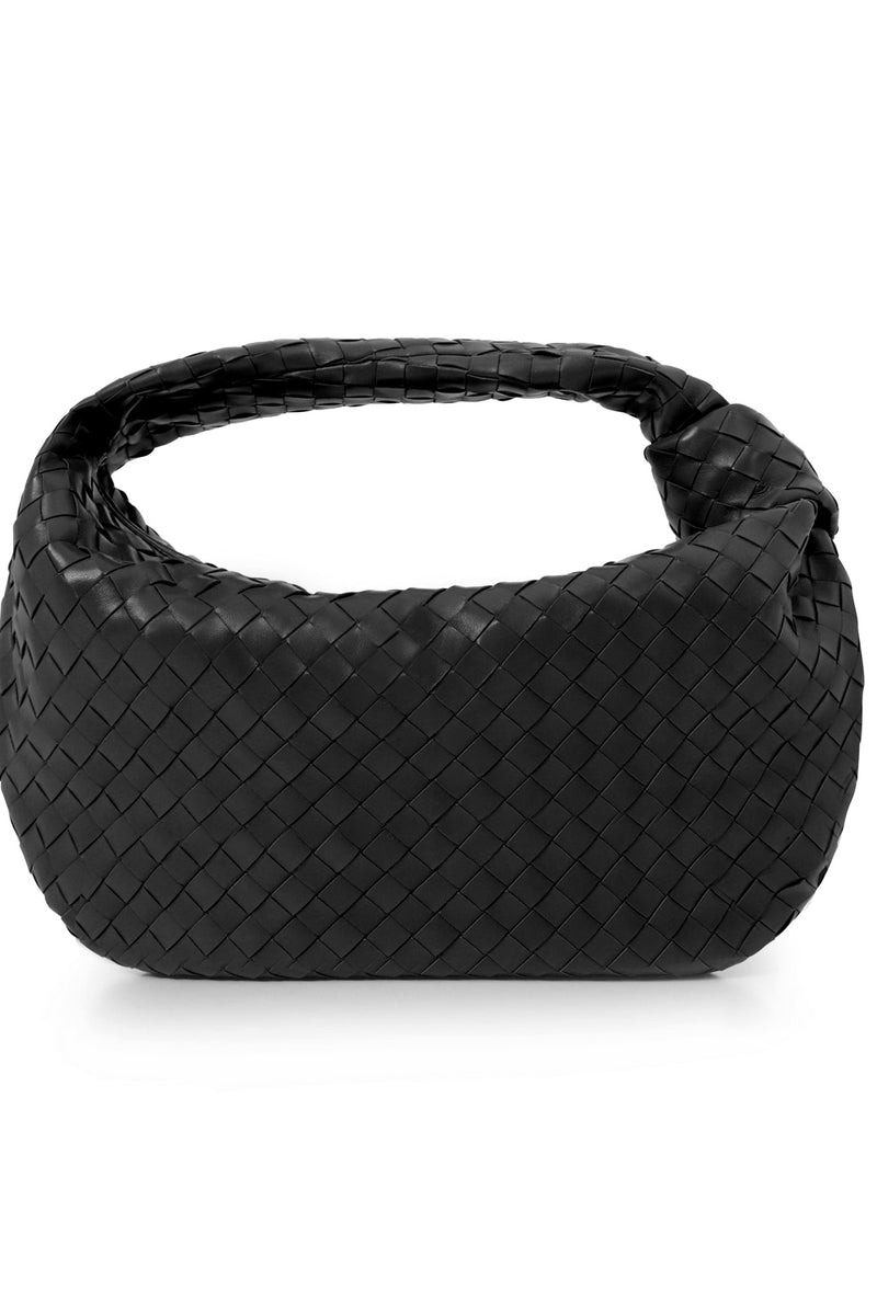 SMALL JODIE BAG WOVEN LEATHER BLACK