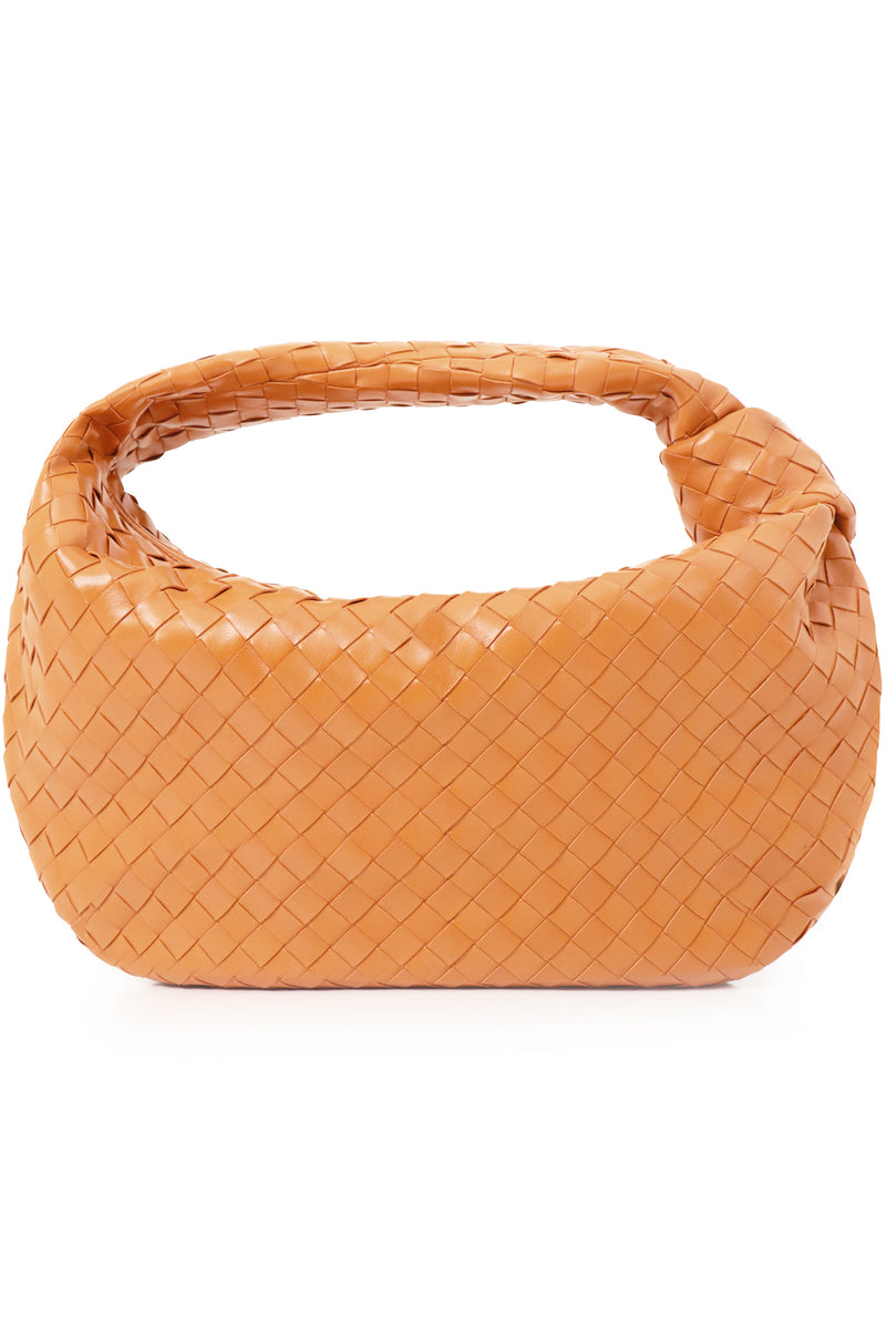 SMALL JODIE BAG WOVEN LEATHER CLAY