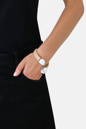 LEATHER CUFF CIPRIA/SILVER
