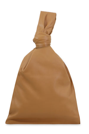 TWISTED TRIANGLE POUCH SMOOTH LEATHER CARAMEL
