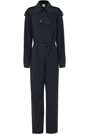 RELAXED FIT BOILERSUIT L/S BLACK