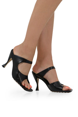 OPEN TOE THONG SANDAL 90MM BLACK