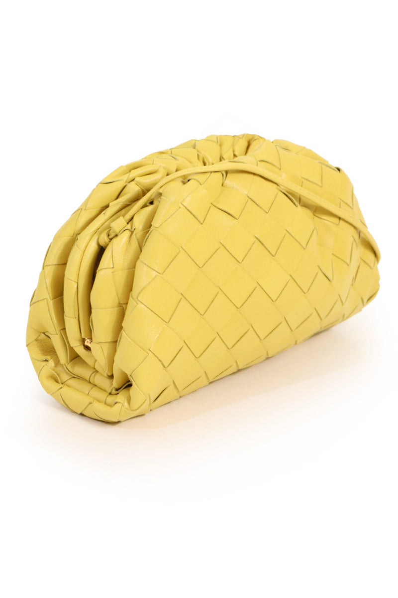 THE POUCH 20 WOVEN LEATHER CORN