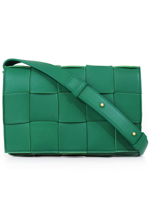 WOVEN CASSETTE BAG RACING GREEN