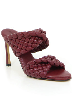 PADDED CURVE SANDAL 90MM BORDEAUX